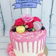 MajCake - Drip Cake Kwiaty Urodziny