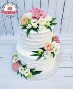 MajCake - tort weselny eustoma