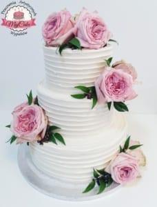 MajCake - tort weselny róże